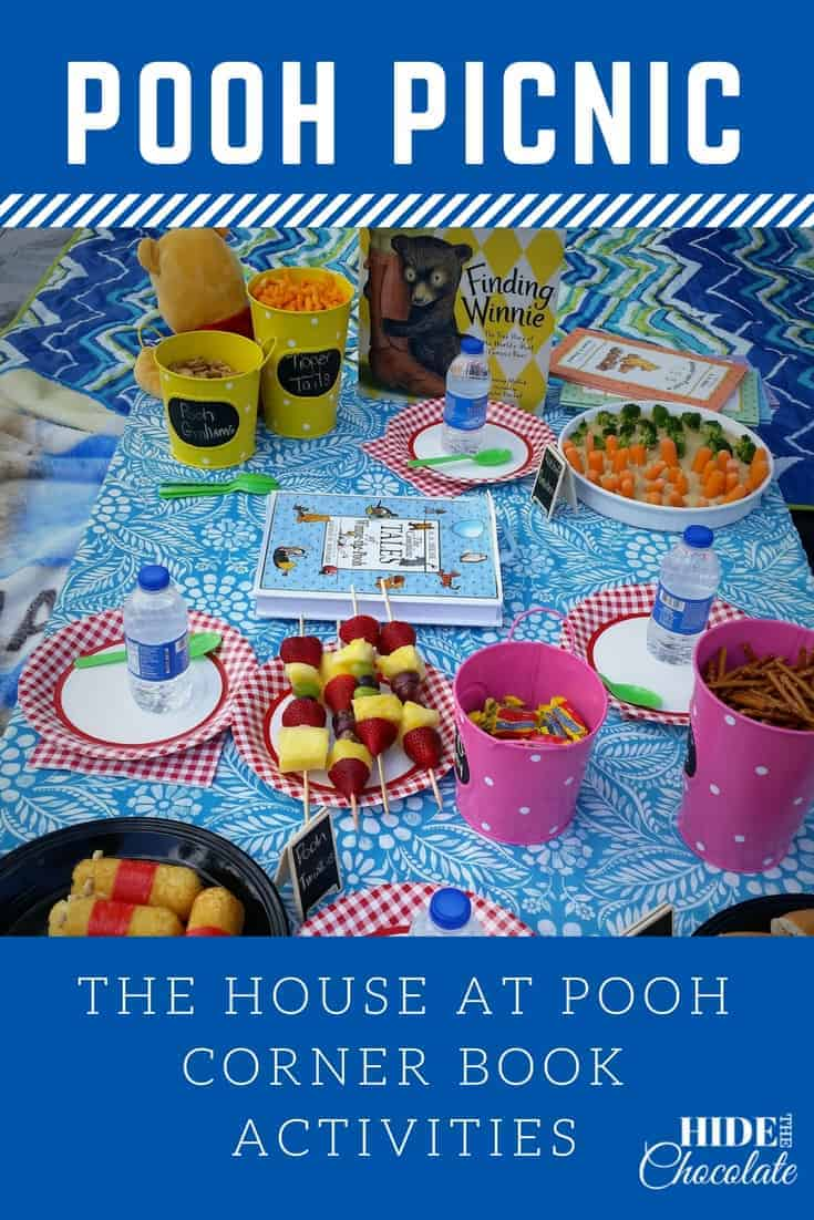 Wooded forests, bubbling streams and Pooh Sticks -- what more could you want for a celebration of The House at Pooh Corner?How about a Pooh Picnic complete with honey snacks and Pooh Twinkies? #homeschooling