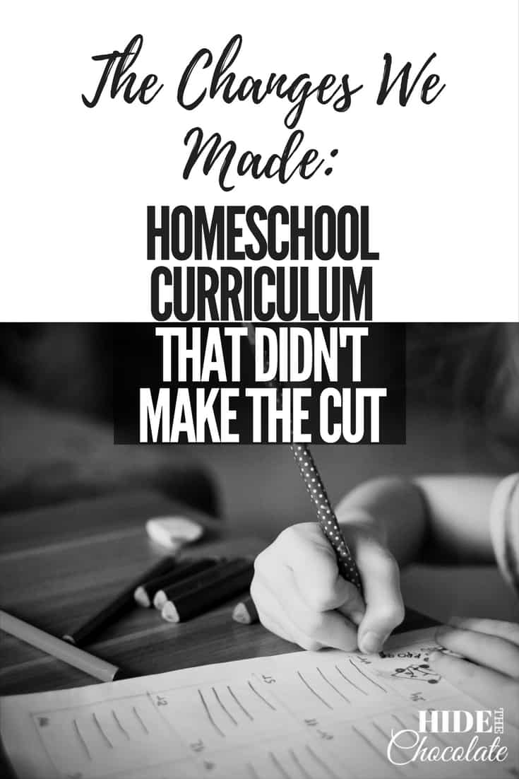 The Changes We Made: Homeschool Curriculum That Didn't Make the Cut