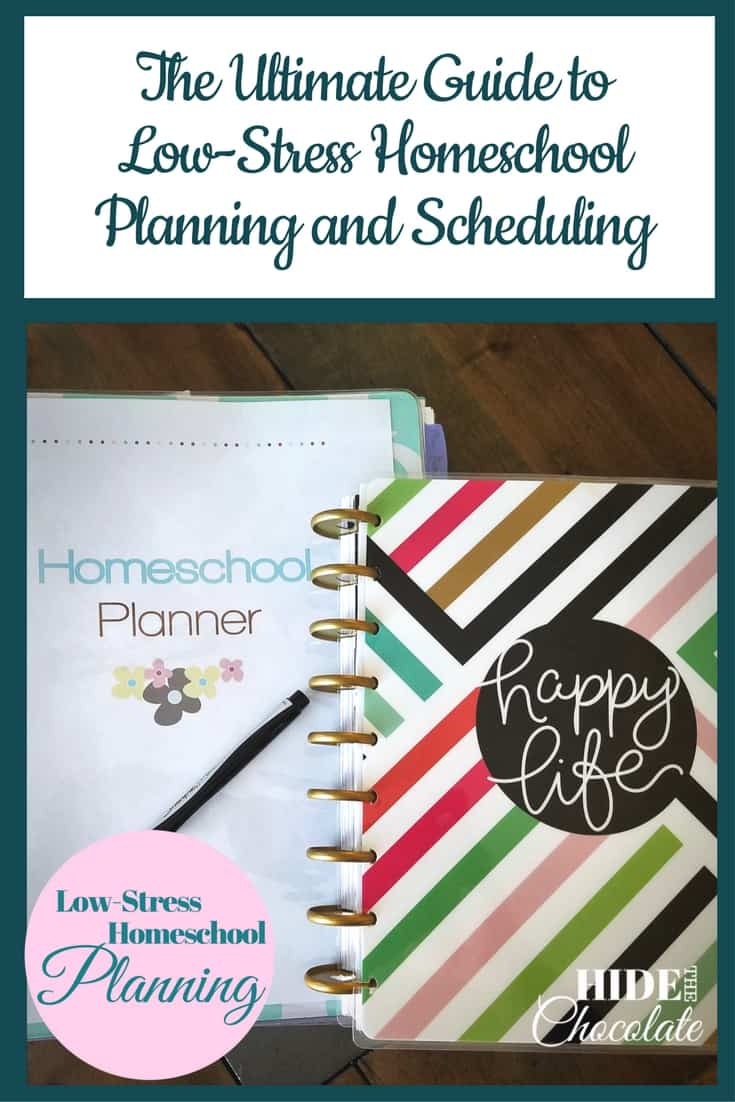 The Ultimate Guide to Low-Stress Homeschool Planning and Scheduling ~ Does planning stress you out? I've scoured the planning universe to find the best advice for low-stress homeschool planning and scheduling.