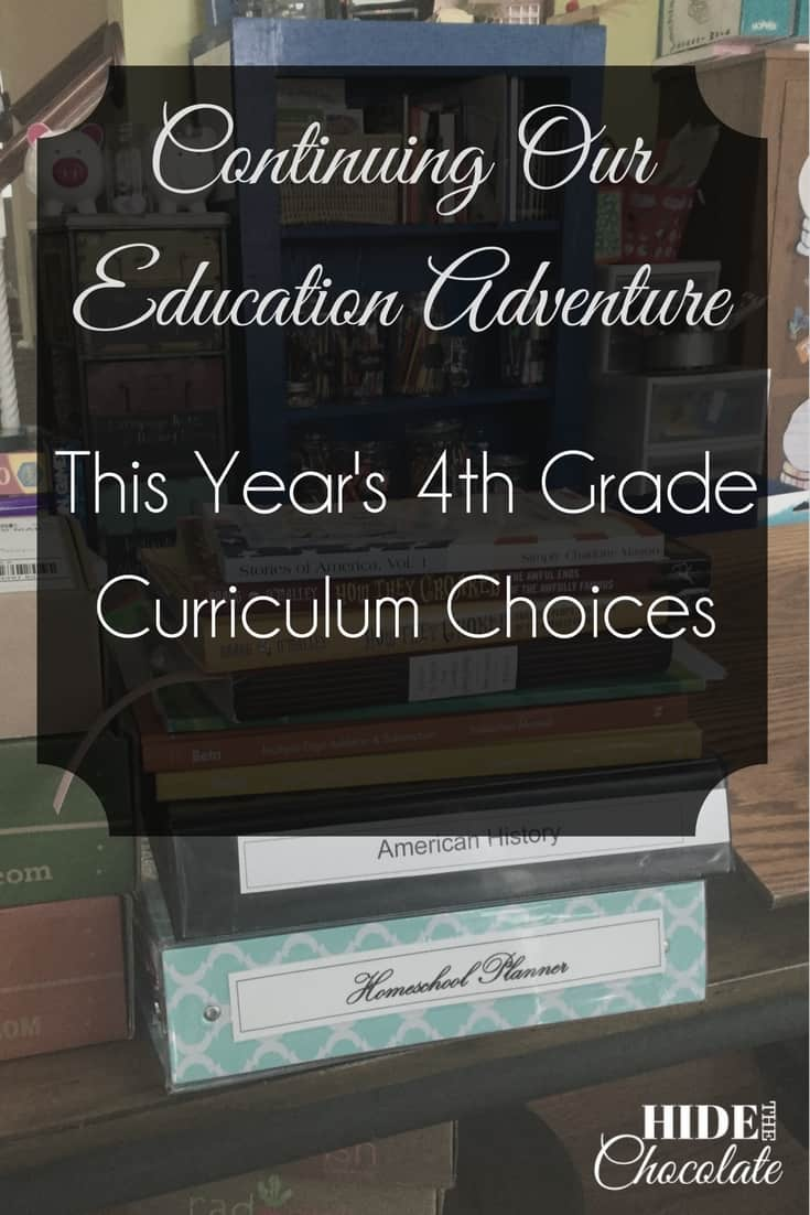 Continuing Our Education Adventure: This Year's 4th Grade Curriculum Choices ~ I learned my lesson last year, so this year we decided to keep what was working and only add a few new programs to the 4th-grade curriculum. #homeschool