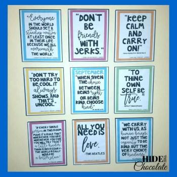 Wonder Precepts on Wall