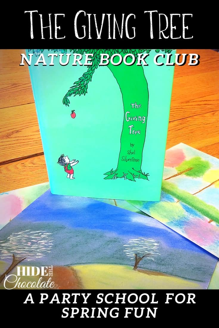 New tree buds, spring tree art, and fried apple pies were all part of the latest nature book club. It was beautiful AND tasty at our The Giving Tree nature book for kids. #homeschooling #bookclub #thenaturebookclub #thegivingtree
