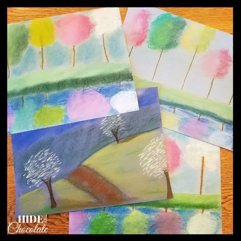 The Giving Tree Nature Book Club Chalk Pastel Art