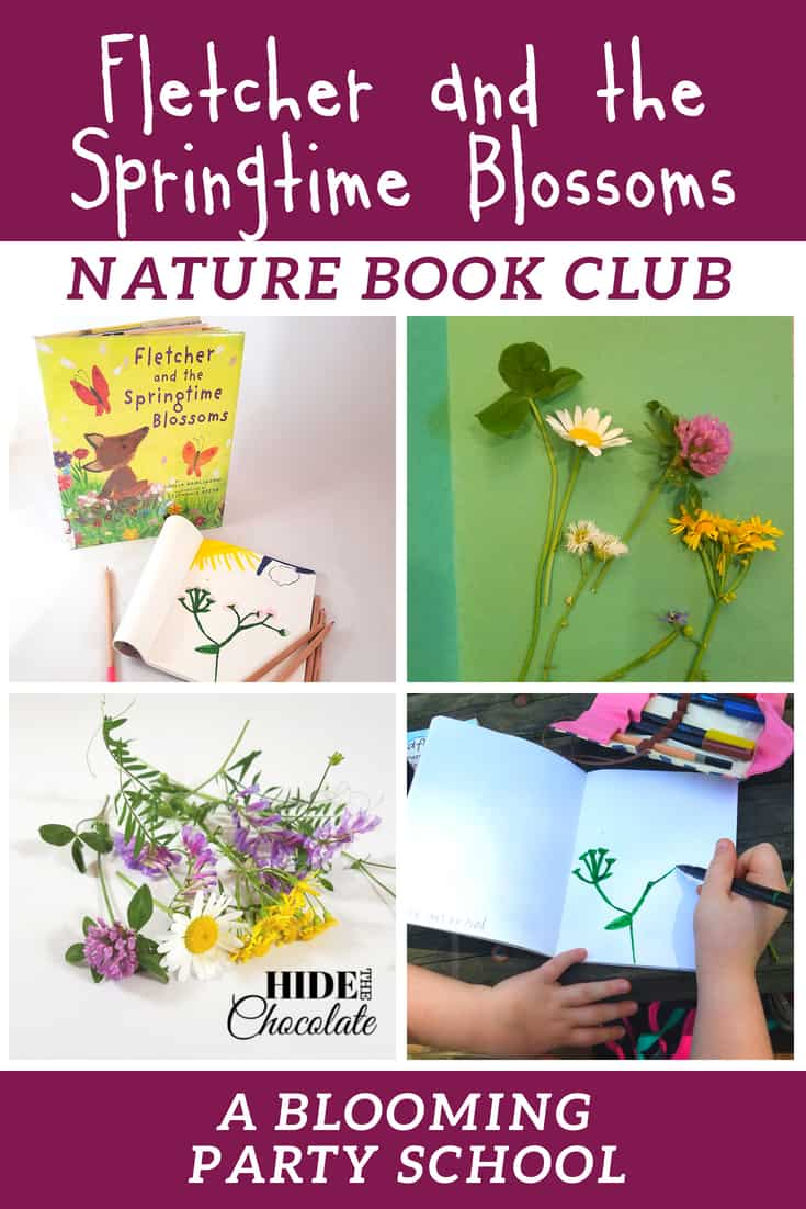 Fletcher and the Springtime Blossoms Book Club ~ Treks through the woods searching for wildflowers, identifying our findings, and then sketching them with watercolors made this month's nature book club bloom into outdoor fun.