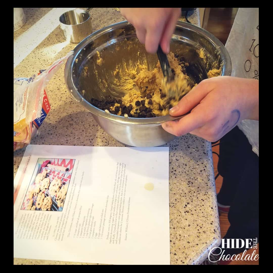 Homeschooling through the holidays at the White House - Cookie Mixing