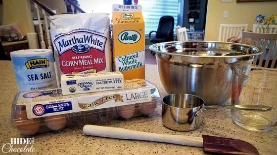 Old Fashioned Cornbread Recipe - Ingredients