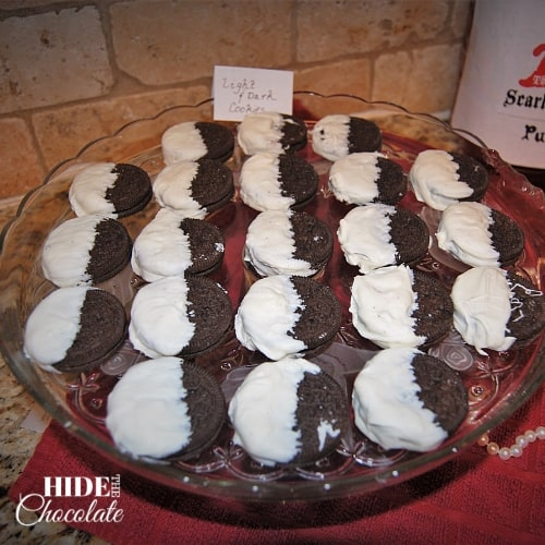The Scarlet Letter Dark and Light Cookies