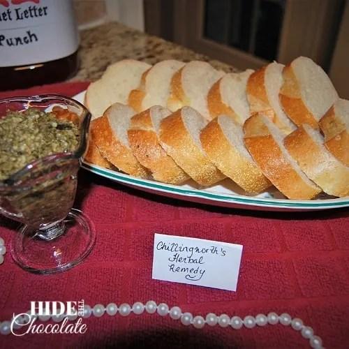 The Scarlet Letter Pesto Bread