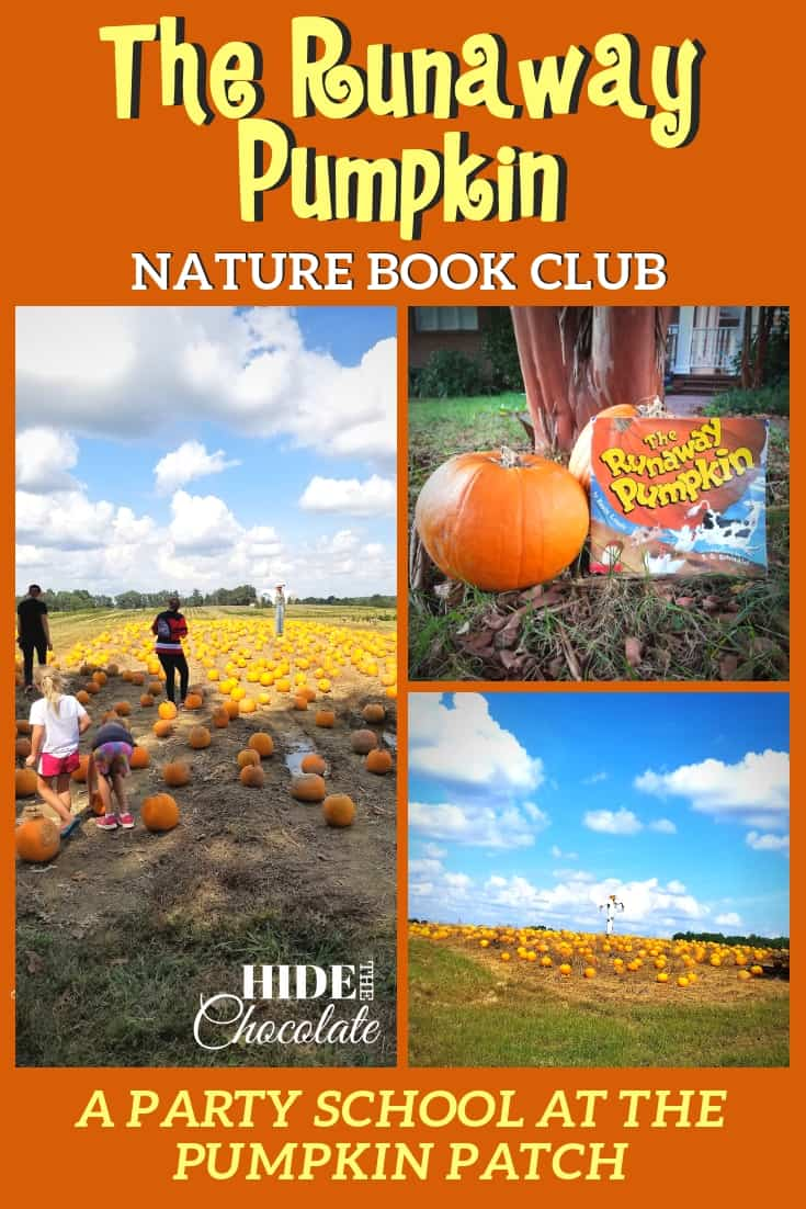 The Runaway Pumpkin Nature Book Club ~ A Party School at the Pumpkin Patch