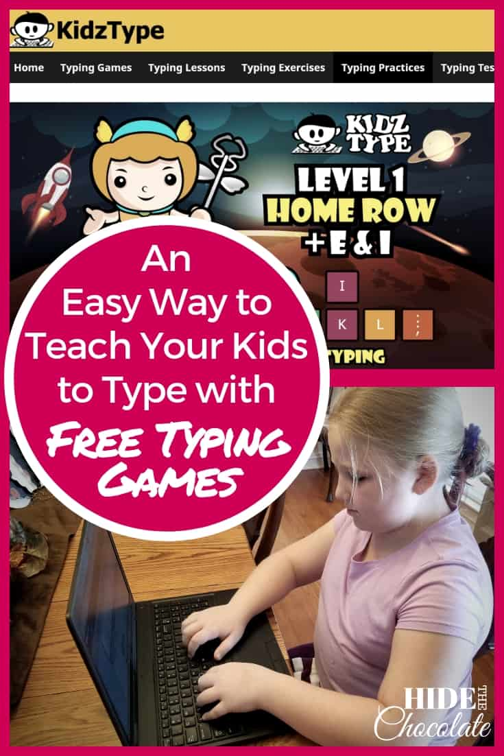 Typing is an important skill that I teach in my homeschool, but sometimesit can get a little boring. Finding a good program that appeals to kids is not an easy task. At KidzType, kids get to play free typing games like killing zombies, slicing fruit and piloting your way through UFOs all while learning to type. #homeschooling #typingprogram