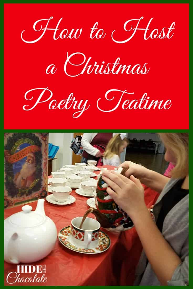 Hot cocoa, marshmallows, and cupcakes mixed with a little holiday poetry were all we needed for a fun-filled Christmas Poetry Teatime! #christmas #poetryteatime #homeschooling