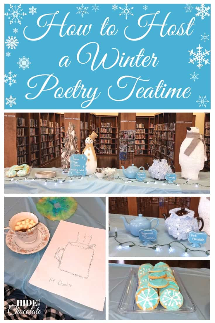 How to Host a Winter Poetry Teatime ~ With Concrete Poems
