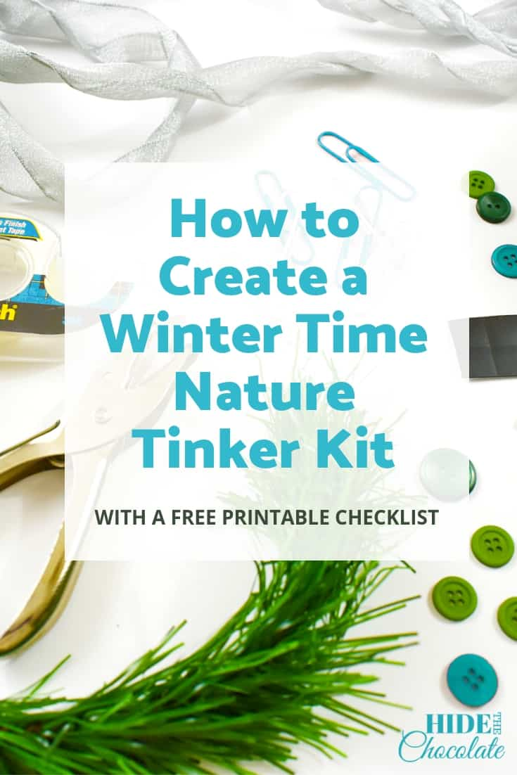 How to Create a Winter Time Nature Tinker Kit ~ with a Free Printable Checklist