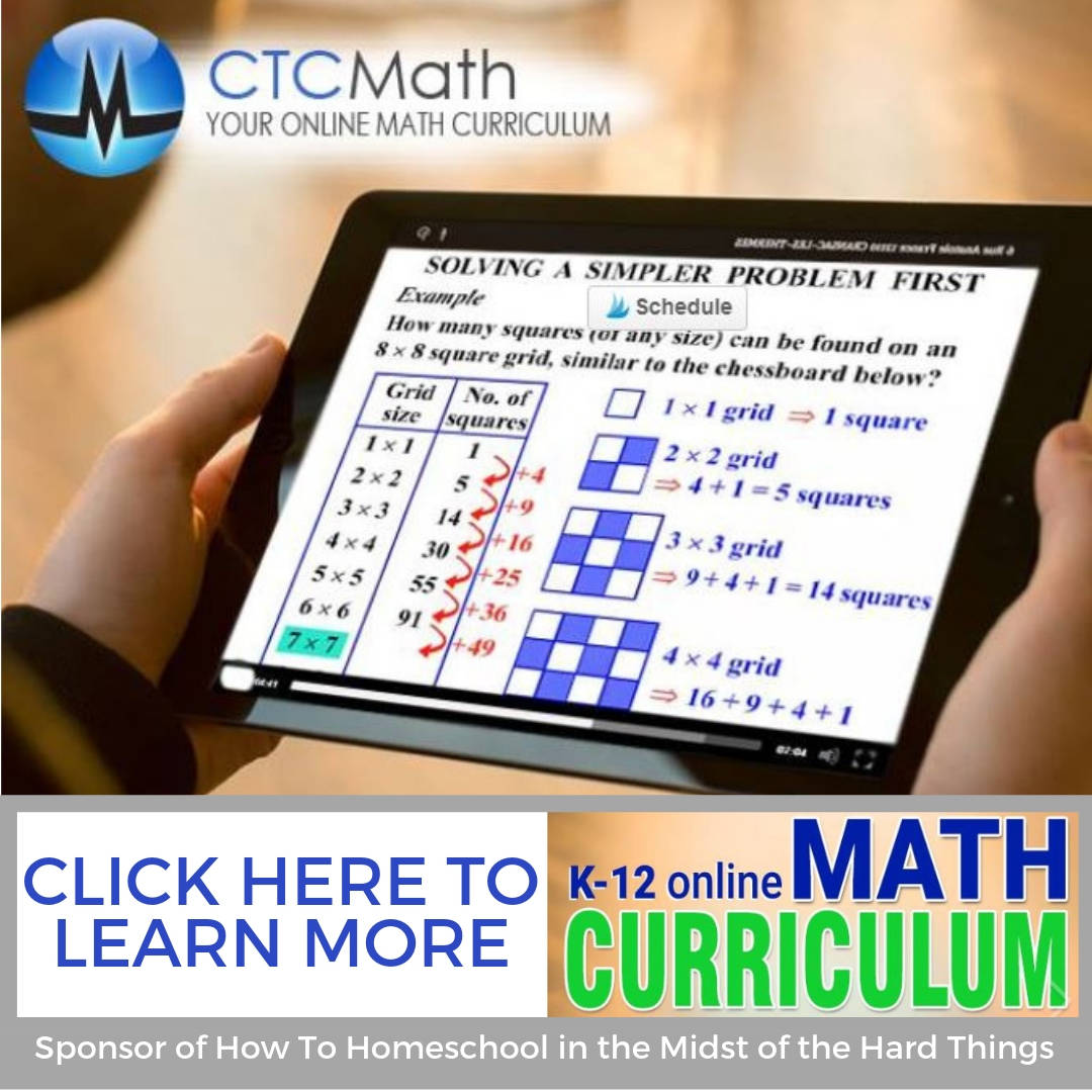 CTC Math How to Homeschool in the Midst of the Hard Things