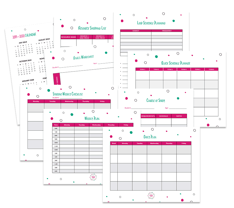 Free Planning Pages