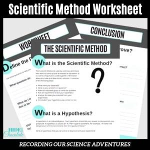 Scientific Method Worksheet Woo