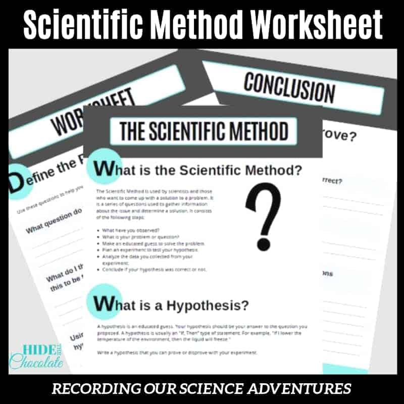 Scientific Method Worksheet American Classic Literature Series