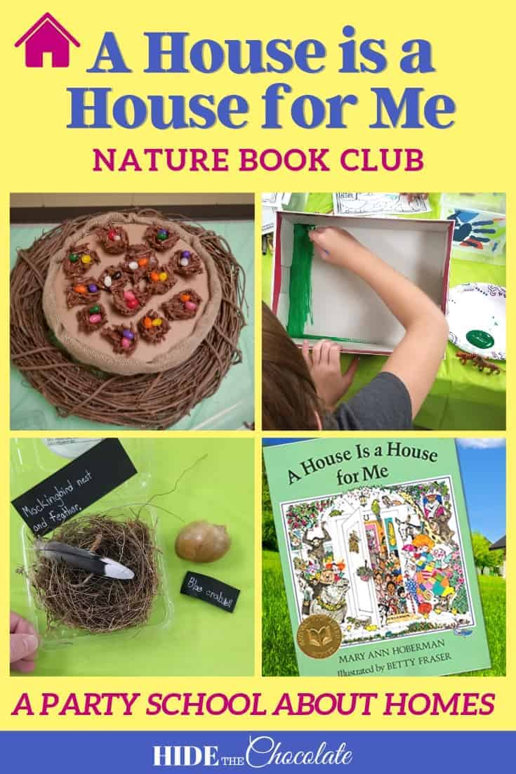 A House is A House For Me Nature Book Club ~ A Party School About Homes