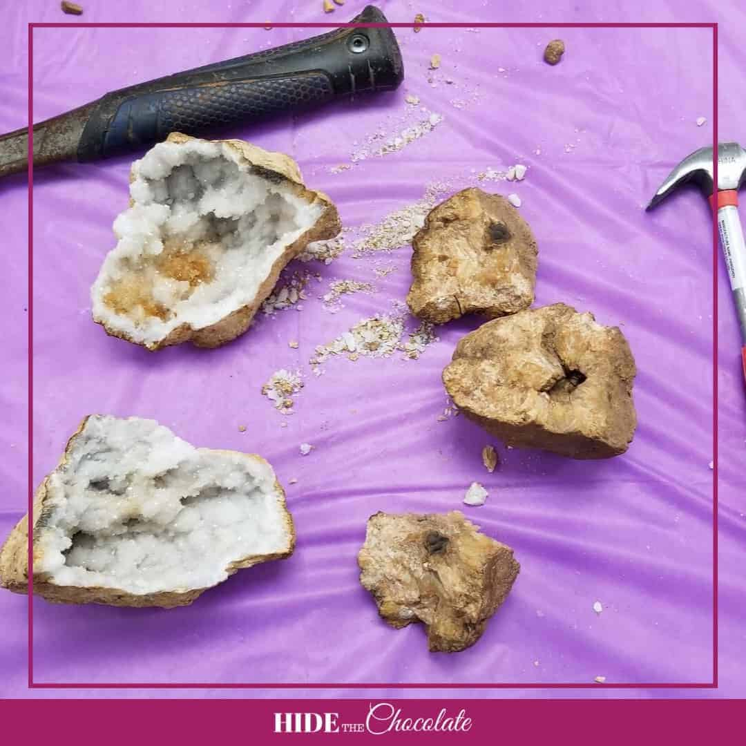 There Are Rocks in My Socks Nature Book Club - Broken Geodes