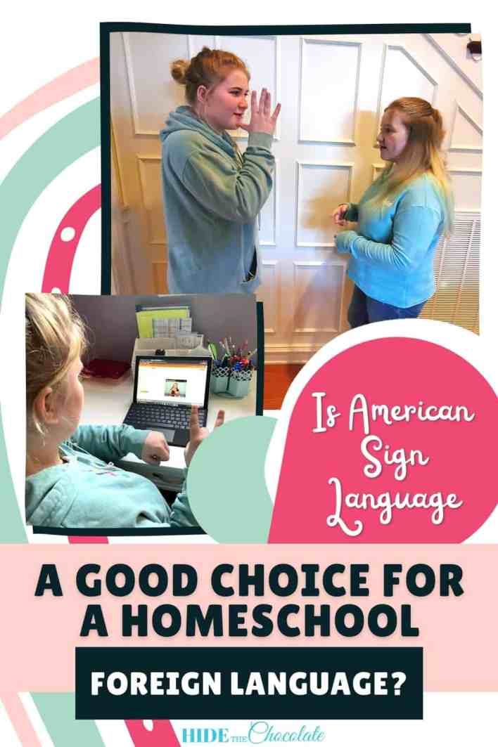 Is American Sign Language A Good Choice For A Homeschool Foreign Language Pin
