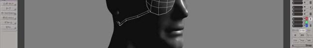 眼帯のモデル作成。眼帯はZBrushで制作するよりも遥かにSoftimageの方が簡単。GoZを使用してモデルをSIに送り、作成後はまたGozで眼帯のみを選択し完成したら、またGoZでZBrushに眼帯のみを転送する