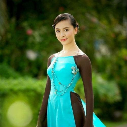 vietnam-ao-dai-custom-made-blue-brown-chiffon