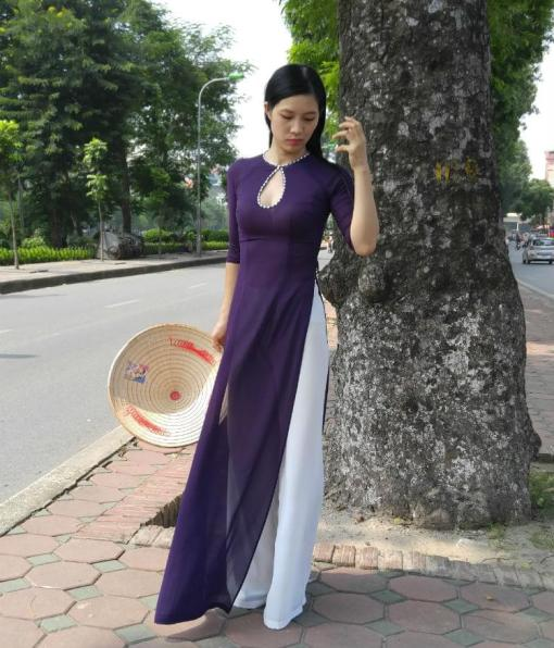 chiffon-ao-dai-for-sale-diamond-neck-purple