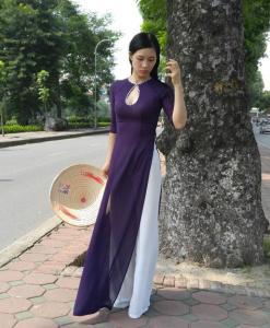chiffon-ao-dai-for-sale-diamond-neck-purple