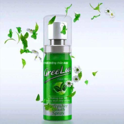 greelux herbal refresher mouth spray green fresh mint hoa linh