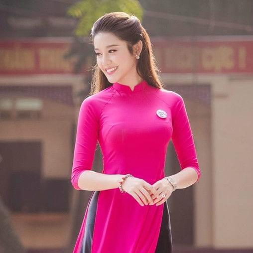 Modern Ao dai Designs Deep Pink Dress
