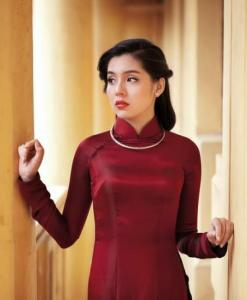 Ao-Dai-Vietnam-Brick-Red