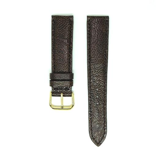 Chocolate Ostrich Leather Wristwatch Strap
