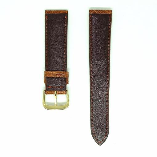 light-brown-ostrich-leather-wristwatch-strap