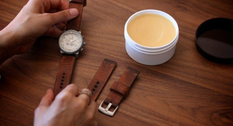 make your leather wrist watch strap newer