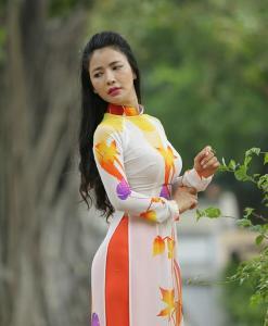 Floral Ao Dai Vietnam