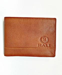 Handmade Cowhide Leather Men Billfold Wallet