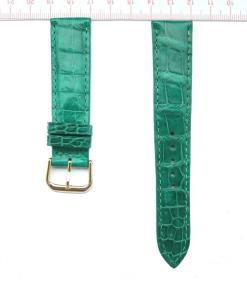 Ruby Green Crocodile Wrist Watch Strap 20mm