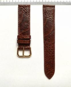 Watch Strap Ostrich Leather Dark Brown