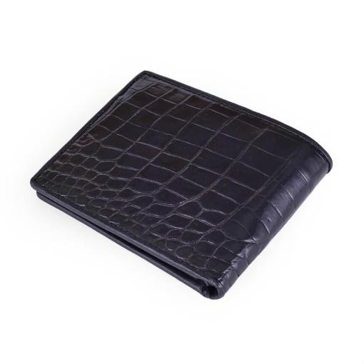 Black Bifold Alligator Men Wallet
