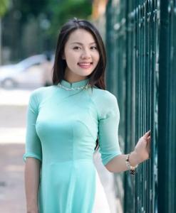 Ao Dai Vietnam Long Dress Sky Blue