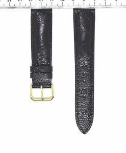 Black Watch Strap Ostrich Leather 20mm Grain Pattern