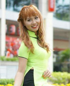Online Ao Dai Vietnam Lime Yellow Chiffon