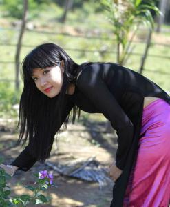 vietnam-ao-dai-for-sales-black-sheer-dress-pink-satin