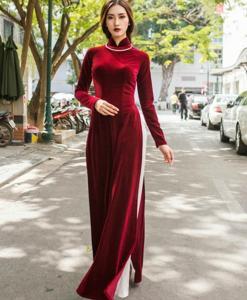 Ao Dai Vietnam Velvet Tailor Made 20