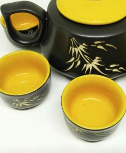 Bat Trang Pottery Tea Set Yellow 2