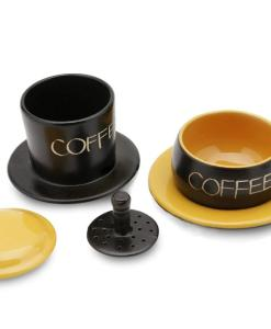 Gravity Ceramic Coffee Filter Bat Trang Yellow 2