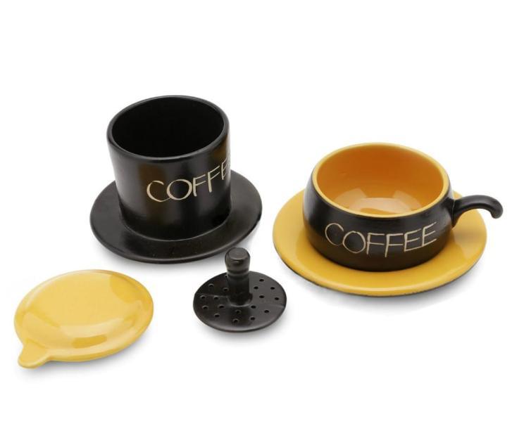 Gravity Ceramic Coffee Filter Bat Trang Yellow 2