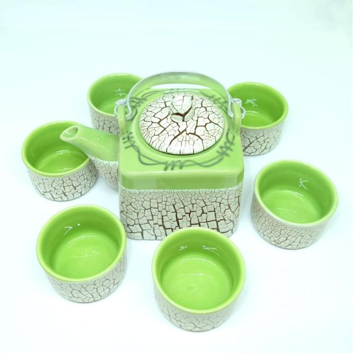 Green Cracked Glaze Bat Trang Ceramic Tea Set  4