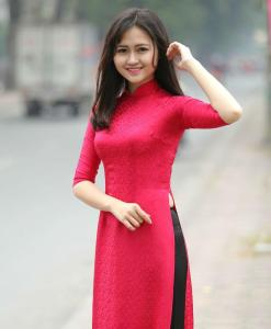 Natural Silkworm Ao Dai Custom Made