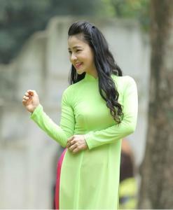 Viet Nam Ao Dai Custom Made Green
